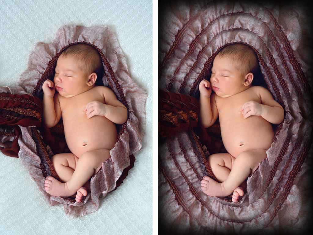 Newborn Art before and after